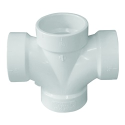 PVC DWV Pipe Cross