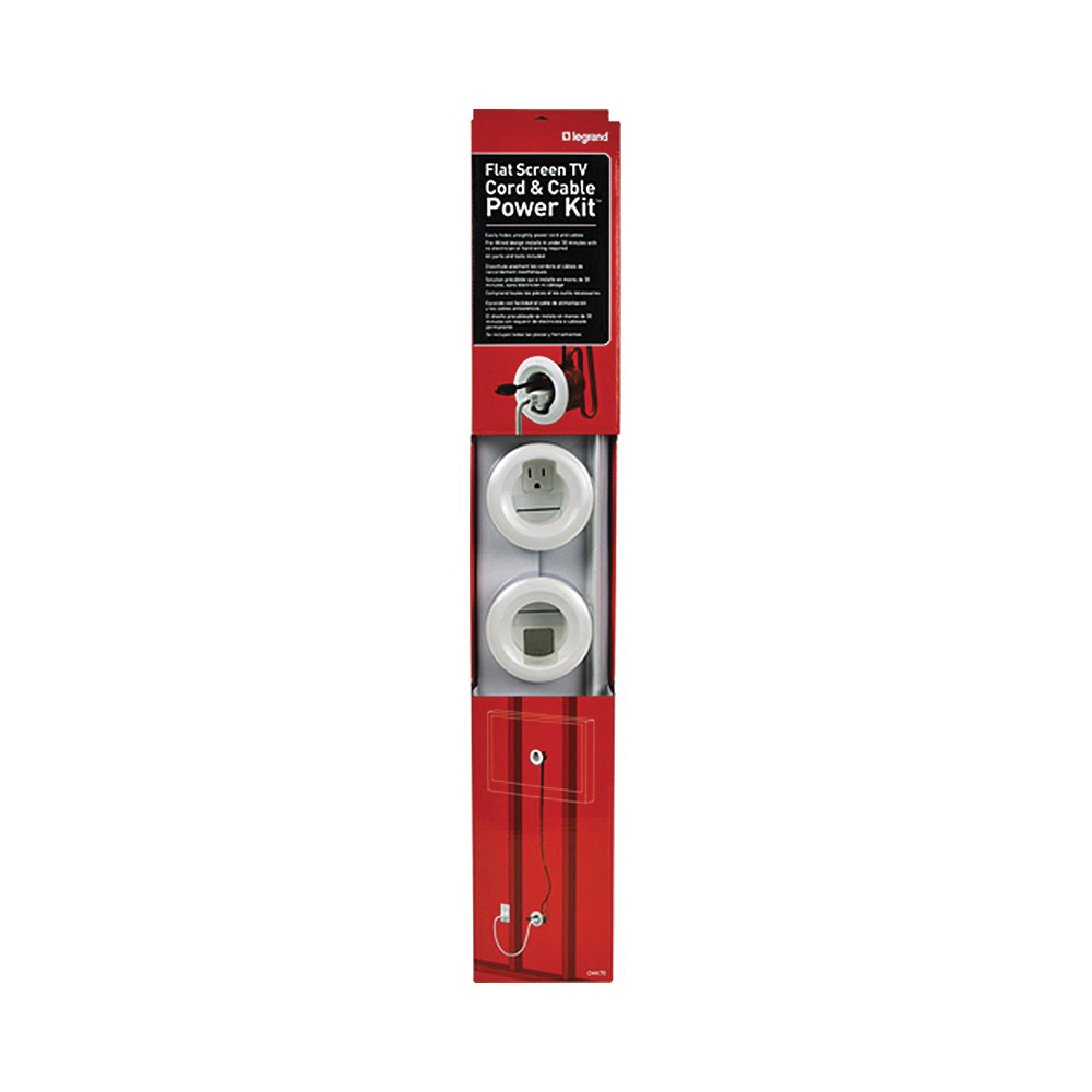 CMK70 Legrand Wiremold Flat Screen TV In-Wall Cord and Cable Power Kit