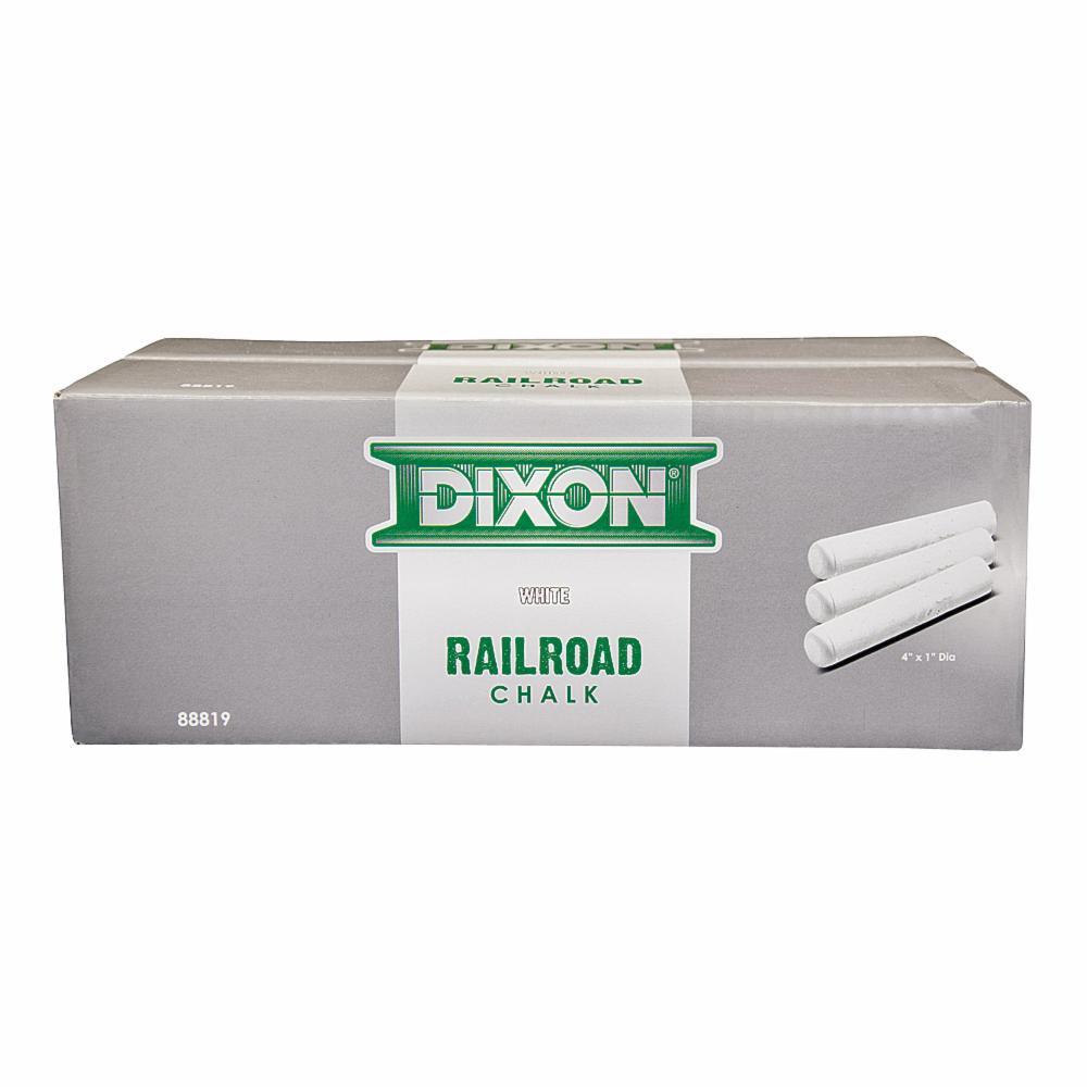 """Dixon Railroad Crayon Chalk 4/"""" x 1/"""" White 72//Box 88819"""