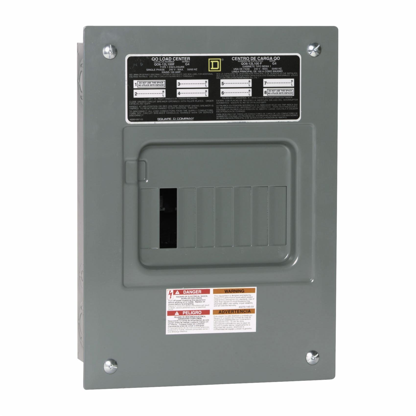 SQUARE D BY SCHNEIDER ELECTRIC QO612L100FCP